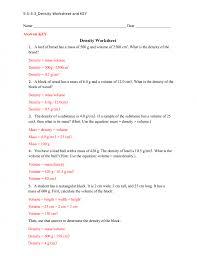 common worksheets density worksheet chemistry density worksheet