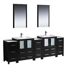 84 Inch Double Sink Bathroom Vanity by Fresca Torino 84 Inch Espresso Modern Bathroom Double Vanity With