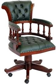 fauteuil bureau en cuir fauteuil bureau anglais acajou capitonné vert oxford meuble de style