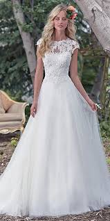 aline wedding dresses maggie sottero cap sleeves aline wedding dress maggie sottero