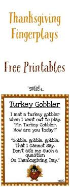 thanksgiving fingerplays thanksgiving songs and finger plays