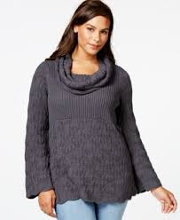 style co plus size cowl neck mixed knit sweater only at macy s