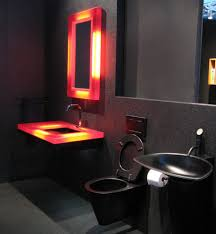 Red And Black Bathroom Decorating Ideas Minimalist Bathroom Decor With Modern Closet And Unusual Black