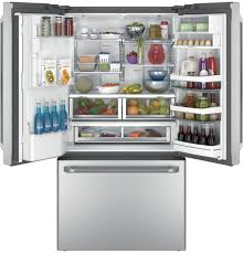 French Door Refrigerator Without Water Dispenser - ge café series refrigerator with keurig k cup brewing system