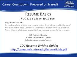 Software Programs To List On Resume Resume Workshop Mtsu Career Countdown