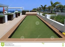 patio u0026 outdoor bocce ball court with artificial turf for amazing