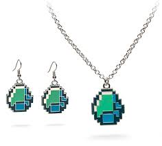 minecraft earrings minecraft diamond jewelry thinkgeek