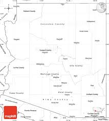 Map Of Arizona by Blank Simple Map Of Arizona