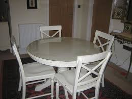 shabby chic round dining table and chairs 6287