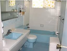 Blue Bathroom Fixtures From 22 Blue Midcentury Bathrooms Retro Renovation