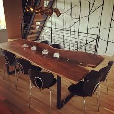 walnut slab table in arm r seal general finishes design center