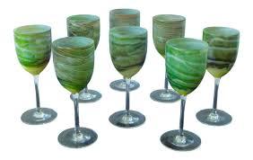 steven maslach handblown wine glasses set of 8 chairish