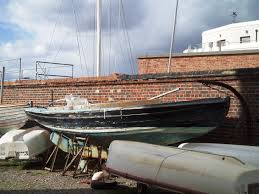 victory class racing yacht for restoration at portsmouth