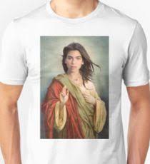 dua lipa jesus christ jesus digital art t shirts redbubble