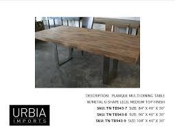 U Shaped Table Legs Urbia Imports Wix Com