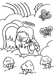 baby angel singing coloring sheets free coloring pages