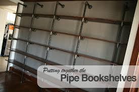 Wood Bookshelves Plans by Building The Pipe Bookshelves Thenerdnest