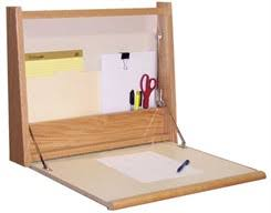 our oak fold away wall desk features a smooth laminated writing