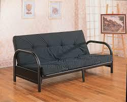modern concept futon sofas and china round arm black metal futon