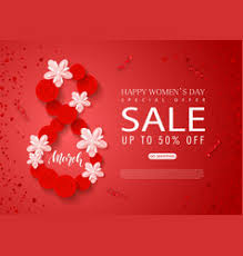 s day sale march happy women s day sale banner beautiful vector image
