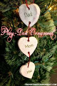 play dough family ornaments easy for to make a