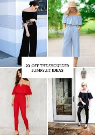 jumpsuit ideas 20 adorable the shoulder jumpsuit ideas styleoholic