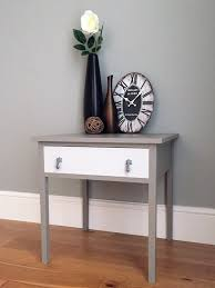 Sofa Tables With Drawers by Vintage Wooden Painted Side Table With Drawer Painted Grey By