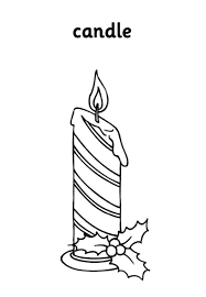 horizontal stripe christmas candle coloring pages download