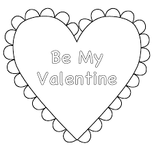 valentines blank hearts coloring printable heart