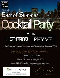 house of samu presents end of summer cocktail party 2017 tickets