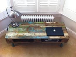 pallet coffee table with reclaimed steel legs the vintage industrial