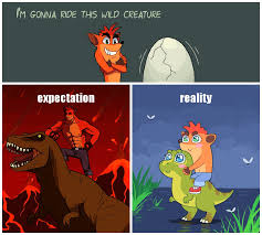 Crash Bandicoot Meme - crash and tyrannosaurus by kempferzero on deviantart crash