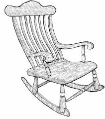 Grandma In Rocking Chair Clipart Grandmother Cooking Turkey Coloring Pages Rocking Chair Rocking