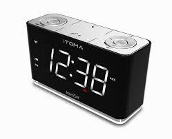 clock radio with night light amazon com itoma alarm clock radio with digital fm night light