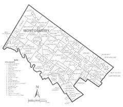 Map Of Pennsylvania Counties Montgomery County Map Pa Image Gallery Hcpr