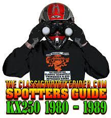 evo motocross bikes for sale kawasaki kx250 1980 89 spotters guide classicdirtbikerider com