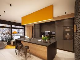 Black Kitchen Cabinets Pinterest Contemporary Kitchen Best Modern Yellow Accent Kitchens Design