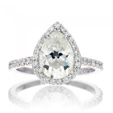 halo engagement rings pear 9x6 moissanite ring halo engagement ring