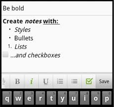 android text editor evernote for android update all new tablet interface create rich