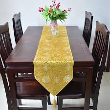lucky flower table runner luxury dining table mat chinese style