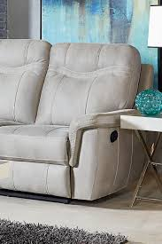Contemporary Reclining Sofa With Topstitch by Standard Furniture Boardwalk Contemporary Stone Colored Reclining