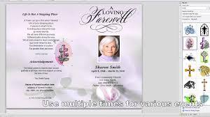 funeral program sles memorial program templates free
