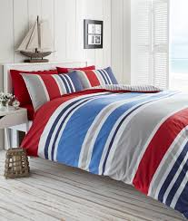laa red super king duvet cover set