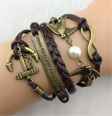 infinity charm leather bracelet images Infinity symbol leather bracelet brown leather bracelets diy jpg