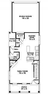 composing narrow lot floor plans