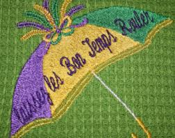 mardi gras umbrella mardi gras umbrella machine embroidery design 4 07 w x 4 16 h from