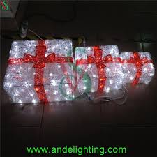 lighted outdoor christmas decorations gift boxes lighted outdoor