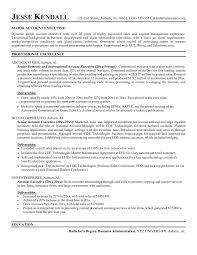 good resume for accounts executive responsibilities for marketing account executive sle resumes yun56 co chef job description