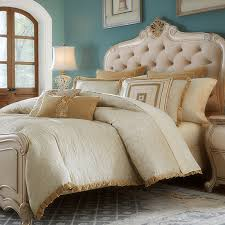Bedroom Furniture Luxury Bedding Carlton Luxury Bedding Set A Michael Amini Bedding Collection By
