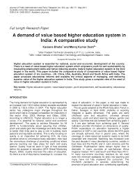 Inno Infr by A Demand Of Value Based Higher Education System In India A